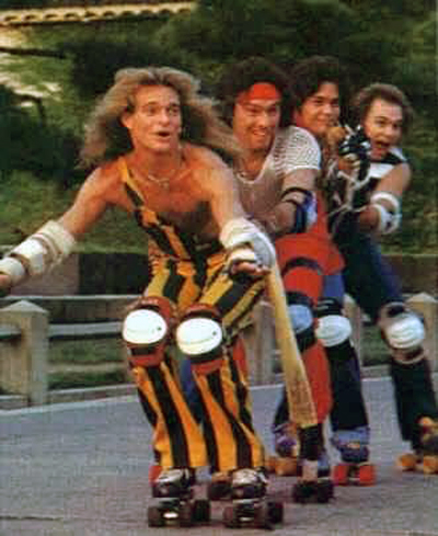 Van Halen Cheesy Roller Skating Photos Skates
