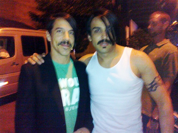 Anthony Kiedis With Look-A-Like Red Hot Chili Peppers