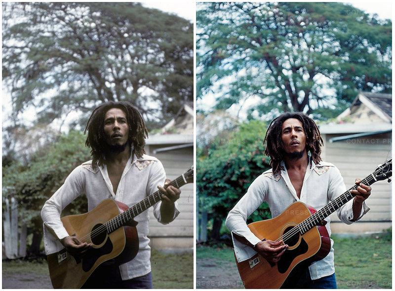 Bob Marley 1976 Jamaica Acoustic Guitar Africa Be Free By 1983