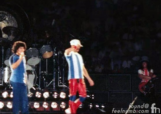 Diego Maradona On Stage With Queen 1981 Argentina