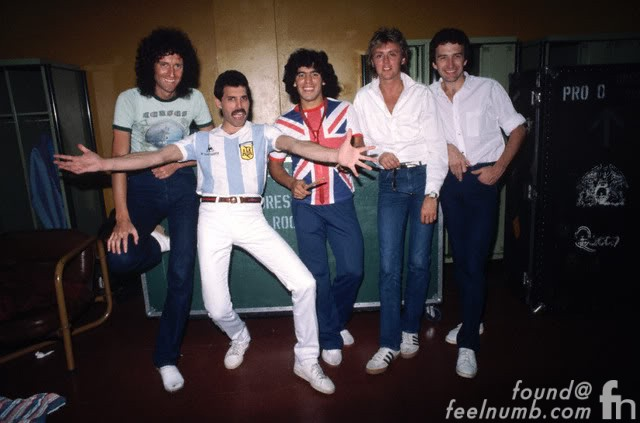 Queen Freddie Mercury Diego Maradona Argentina 1981 Photos