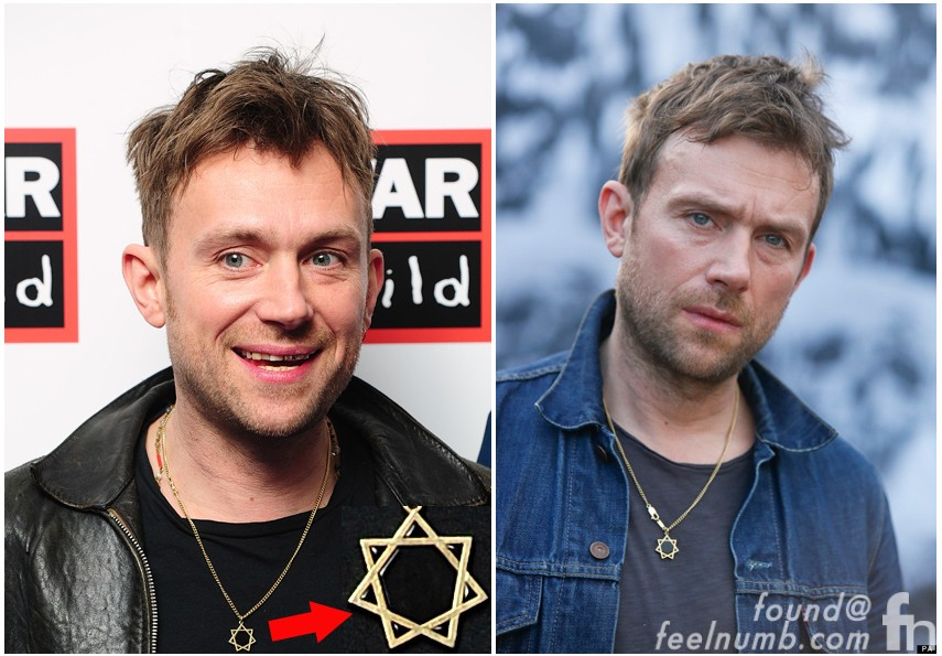 The damon albarn seal of god star logo meaning feelnumb damon albarn necklace star symbol blur gorillaz aloadofball