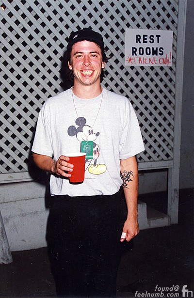 Dave Grohl Mickey Mouse Shirt Nirvana
