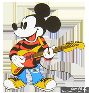 Classic Mickey Mouse Guitar Rock N' Roll Stars
