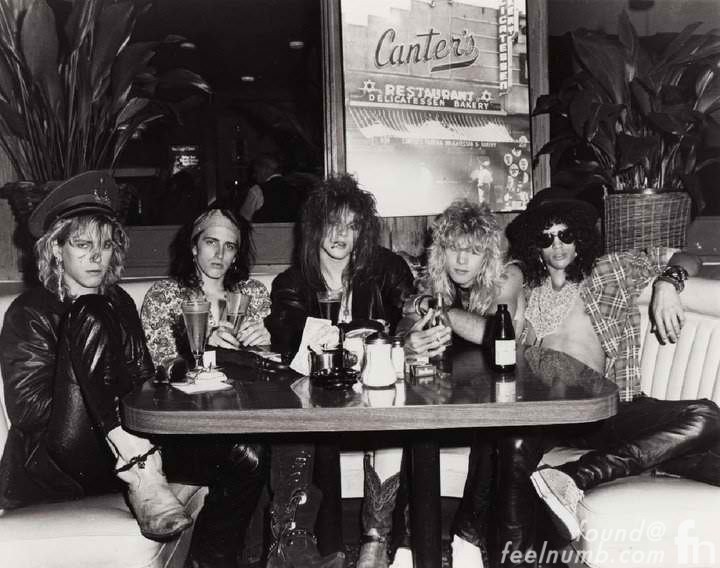 Guns N' Roses Canters Deli Photo