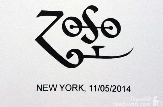 Jimmy Page ZOSO New York Book Signing November 5, 2014