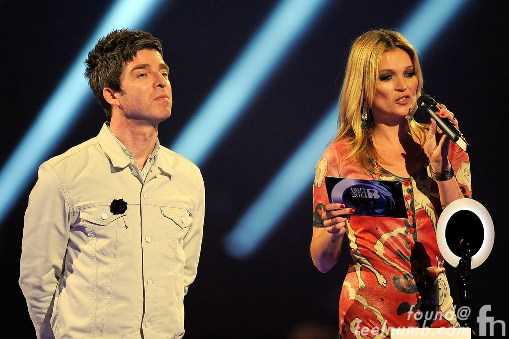 Kate Moss Noel Gallagher Ziggy Stardust David Bowie 2014 Brit Awards