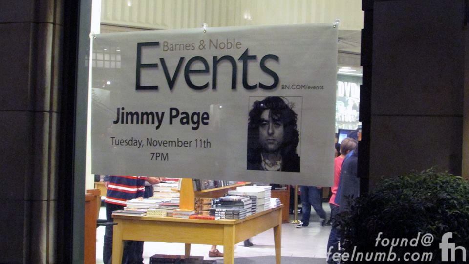 Barnes & Noble Jimmy Page Los Angeles November 11, 2014 Los Angeles