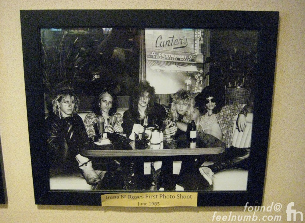 Guns N' Roses Canter's Deli Booth Photo
