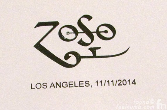 Jimmy Page Zoso Stamp Los Angeles Book Tour