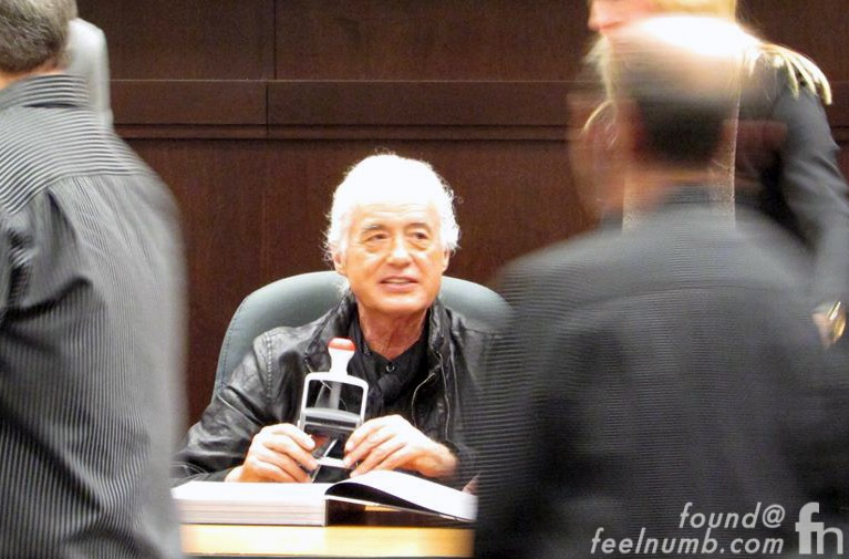 Jimmy Page Led Zeppelin Stamping Book November 11, 2014 Los Angeles