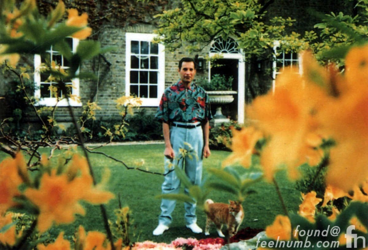 Freddie Mercury Queen Last Photo Garden Lodge Home 1991