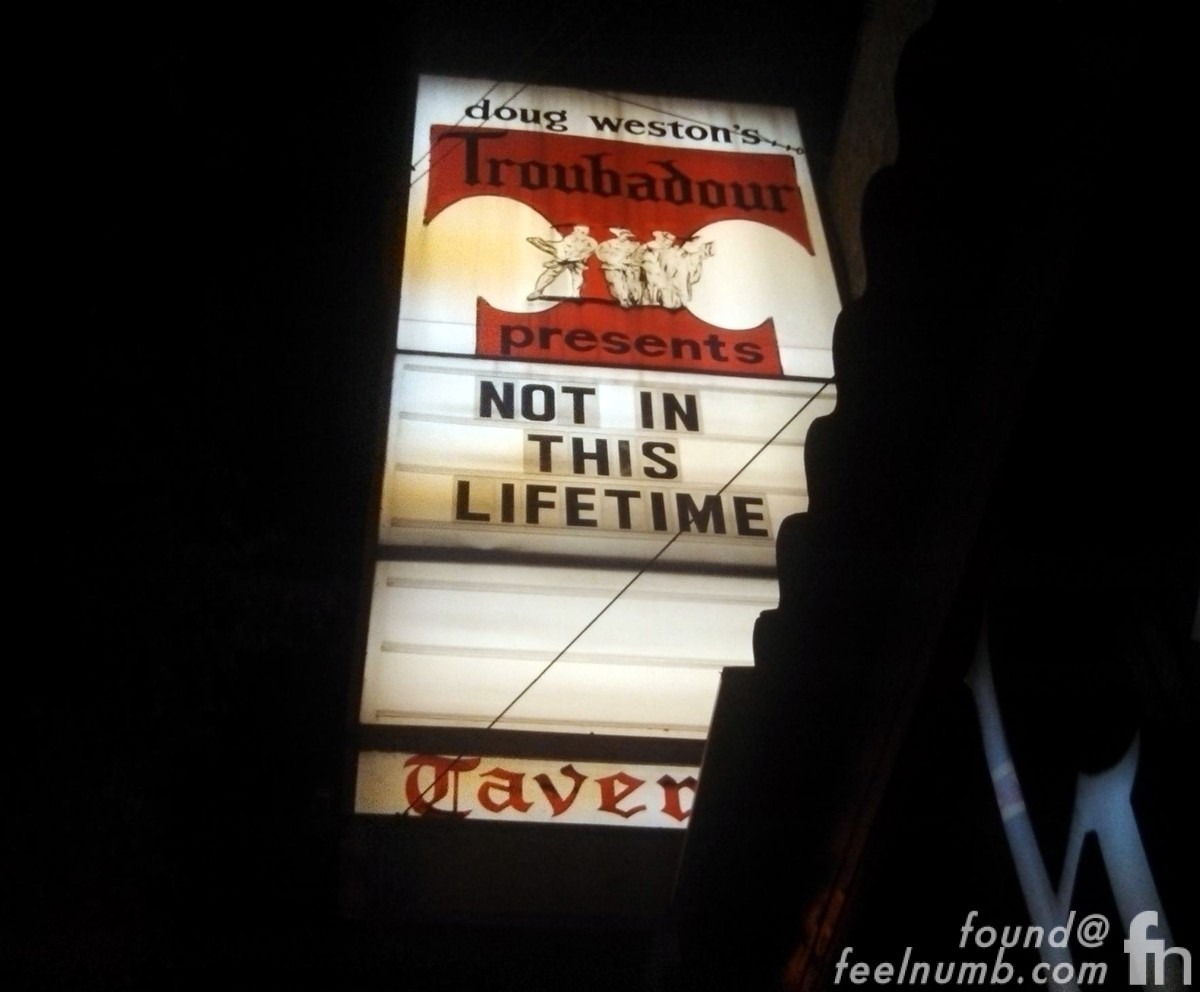 Guns N' Roses Not In This Lifetime The Troubadour April 1, 2016 Warm-Up Show