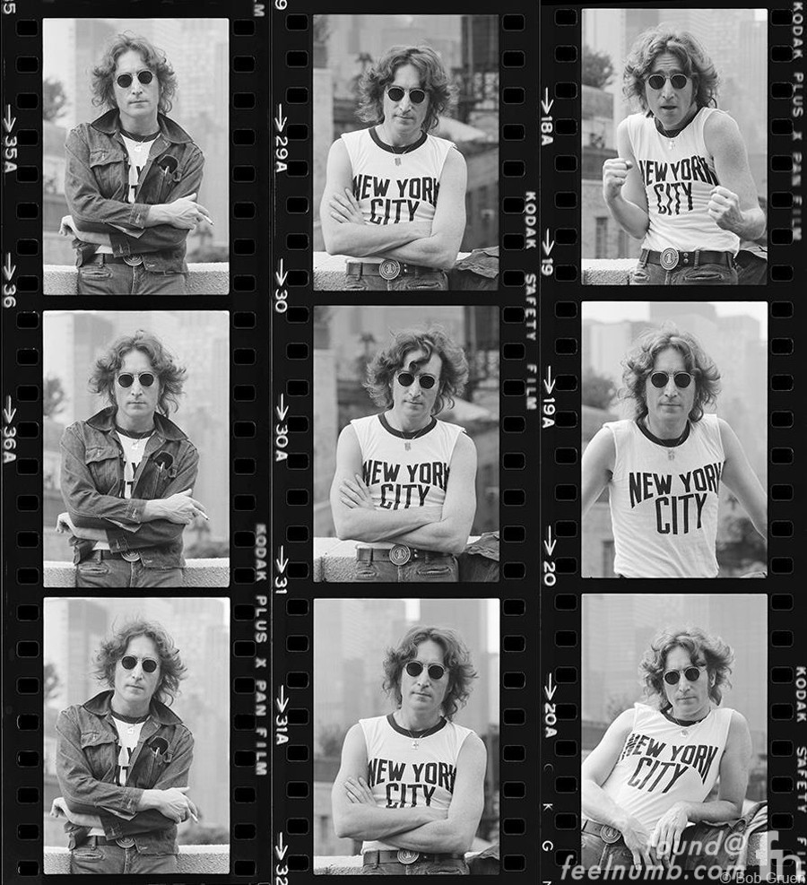 John-Lennon-Contact-Sheet-1974-Bob-Gruen-New-York-City-Shirt