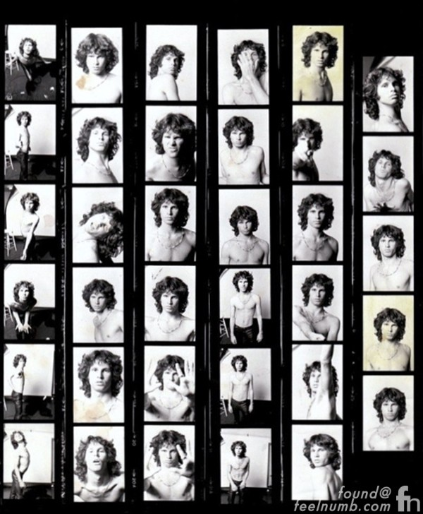 Jim Morrison The Young Lion Photoshoot Contact Sheet