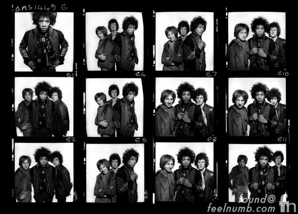 Jimi Hendrix Photo Contact Sheet