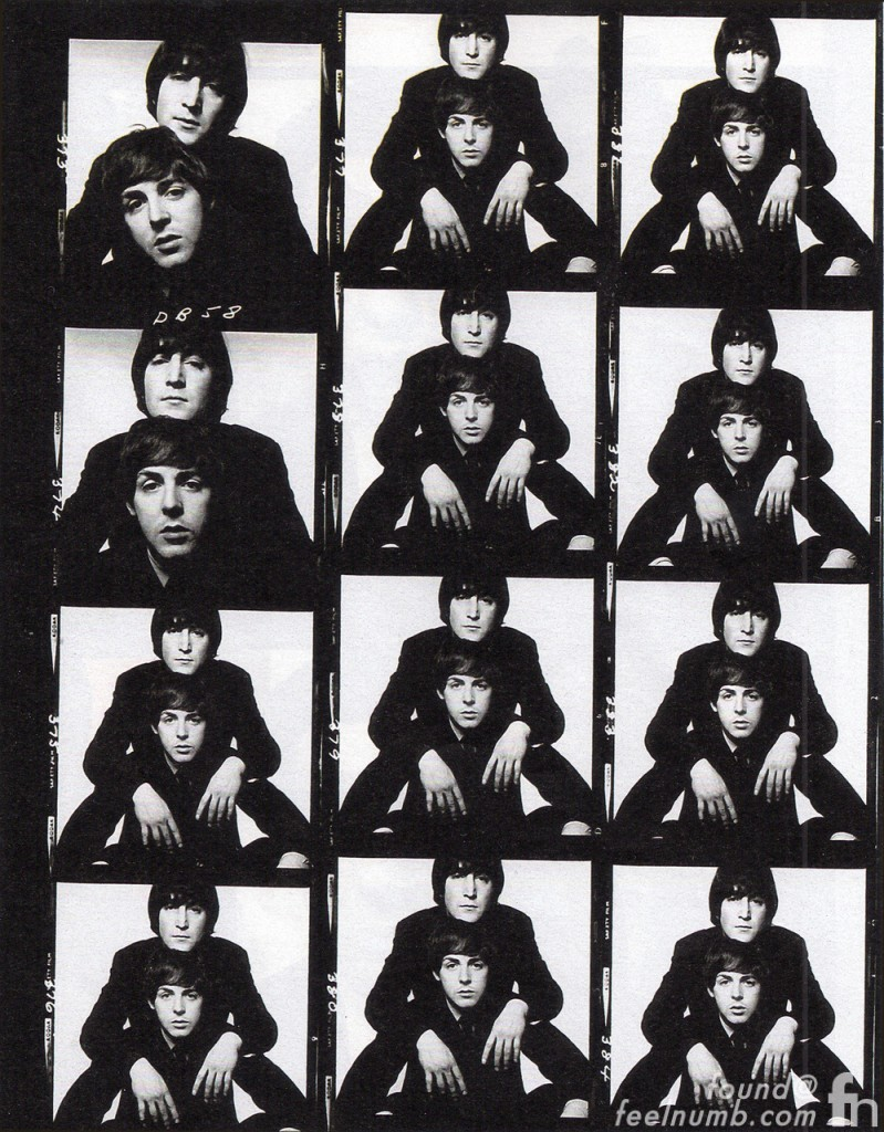 John Lennon Paul McCarney The Beatles Photo Contact Sheet