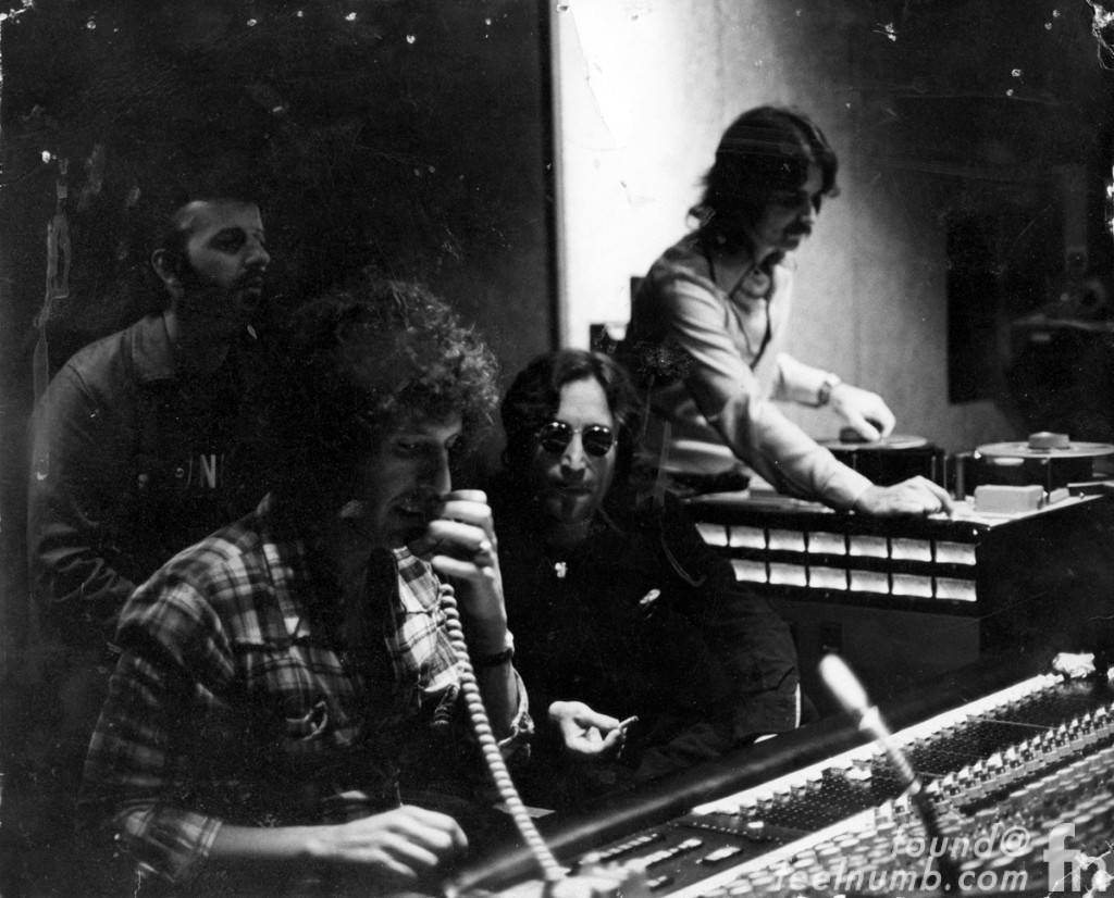 Ringo Recording Session 1973 John Lennon Starr Richard Perry