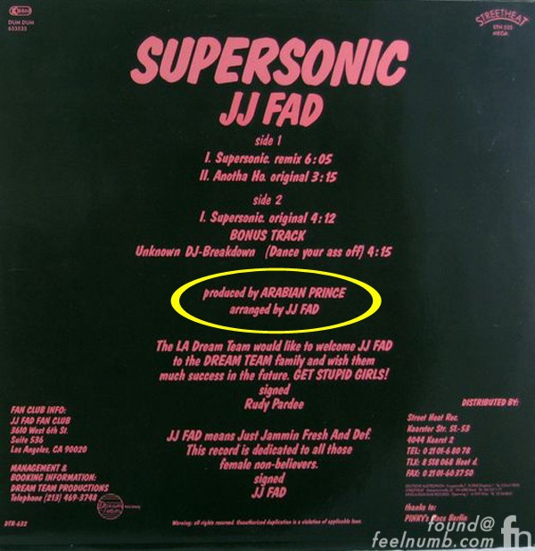 J.J. Fad Supersonic Arabian Prince Produced Dr. Dre