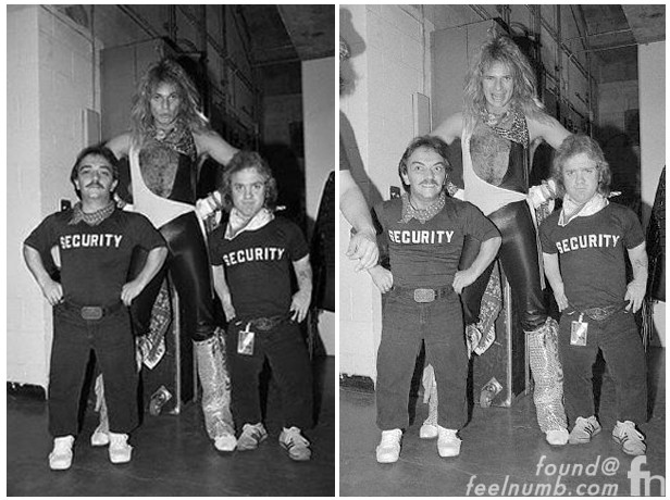 Van Halen Security Midget Little People Bodyguards David Lee Roth