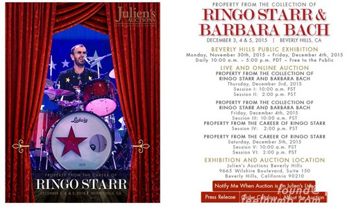 Ringo Starr Auction Drum Kit Set feelnumb.com