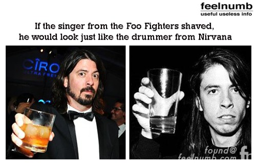 Foo Fighters Dave Grohl Looks Like The Nirvana Drummer