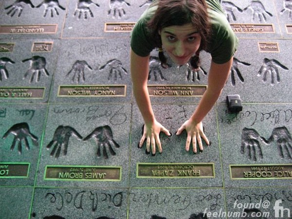 Diva Zappa Frank Zappa Daughter Handprint Guitar Center RockWalk