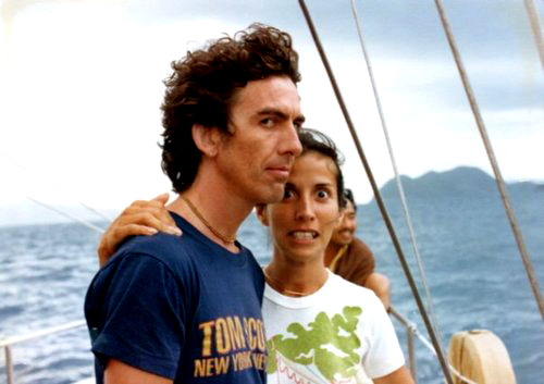 George Harrison Tom Scott Shirt Olivia Boat 1974