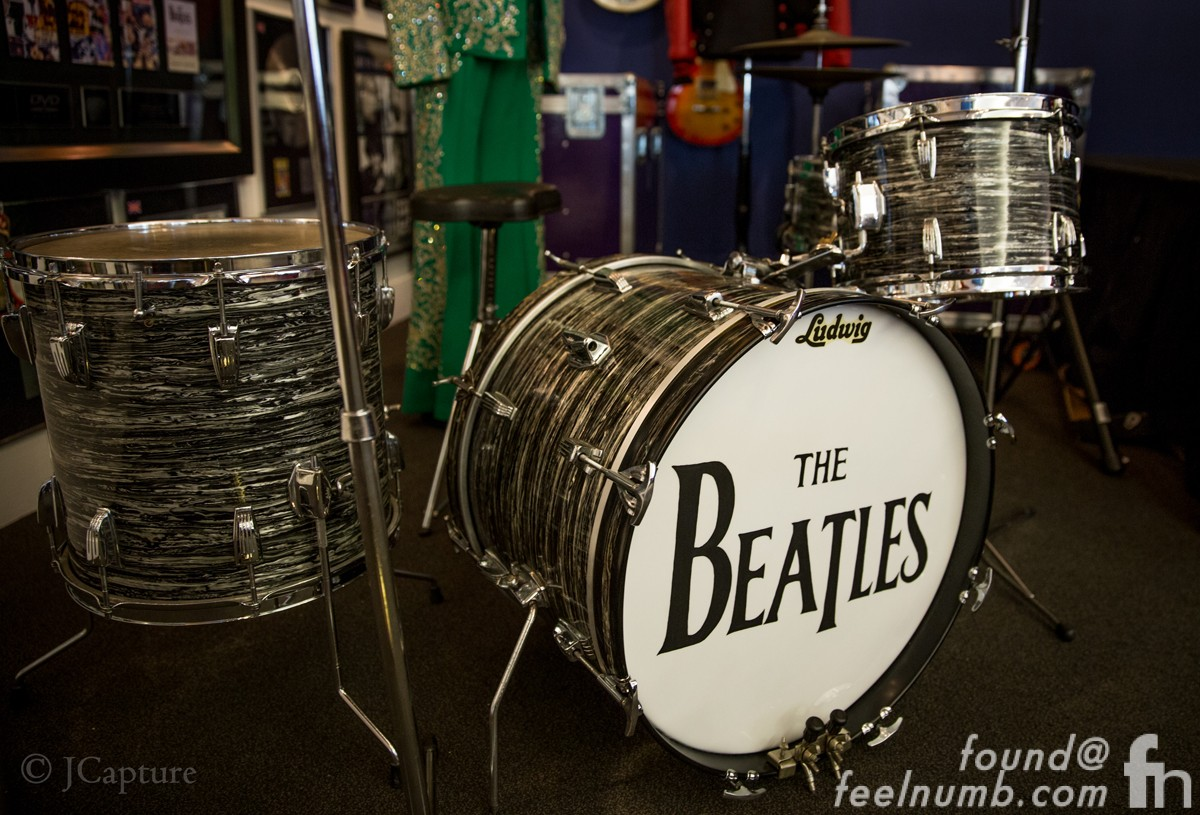 Ringo Starr First Ludwig Oyster Black Pearl Drum Kit The Beatles Jcapture Feelnumb