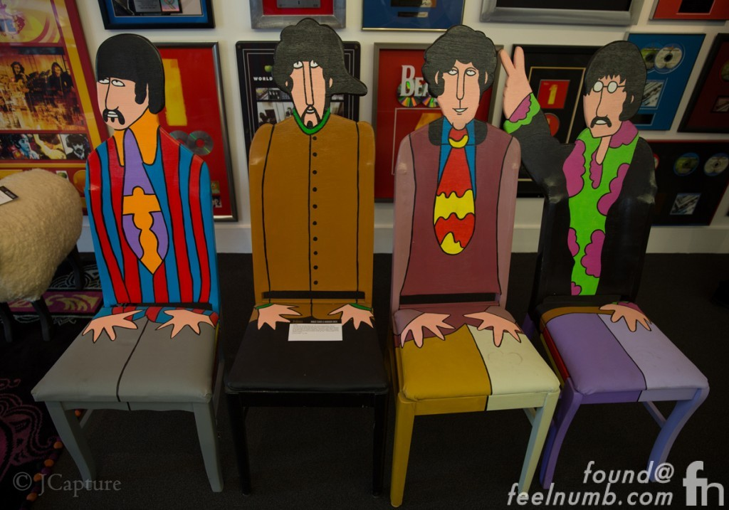 The Beatles Yellow Submarine Chairs Joe Walsh Ringo Starr