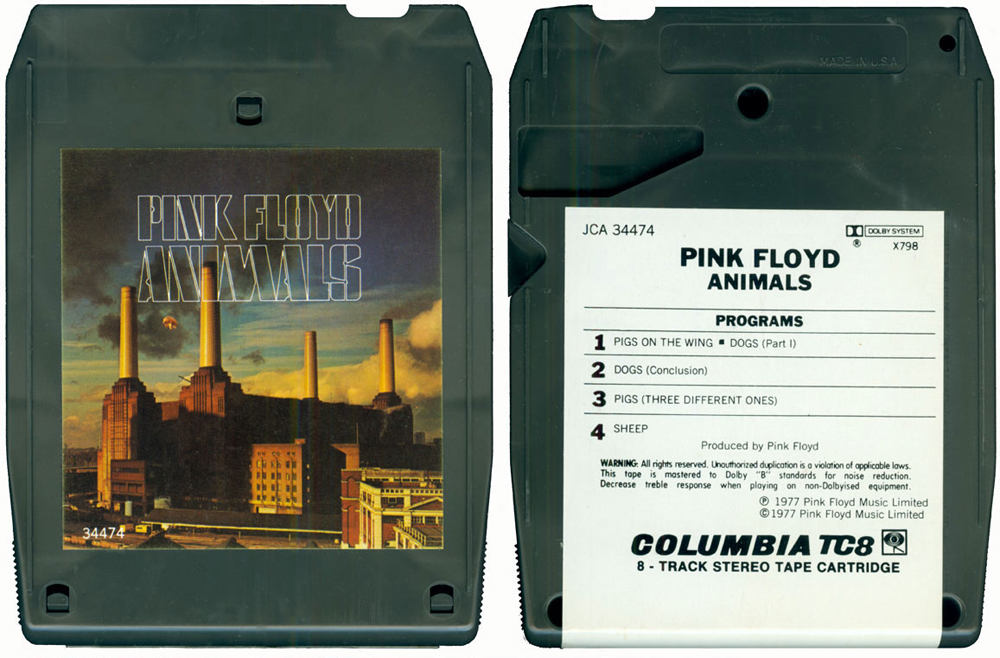 Pink Floyd Snowy White Guitar Solo Pigs on A Wing Animals 8-Track