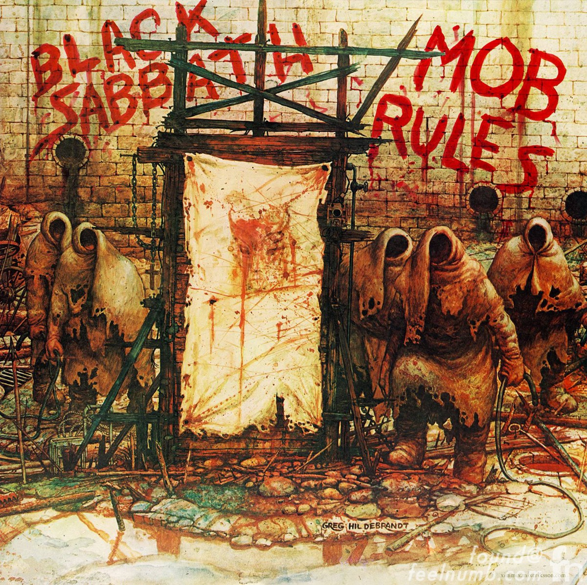 Black Sabbath Mob Rules Kill Ozzy Album Cover Gerg Hildenbrandt