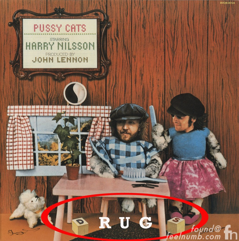 Harry Nilsson John Lennon DRUGS Hidden Inside Joke Message Pussy Cats