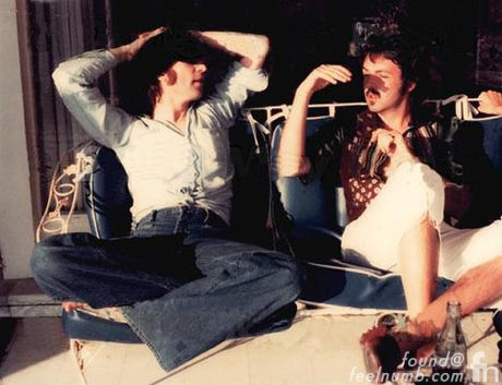 John Lennon Paul McCartney Last Photo Together March 29, 1974 Santa Monica California