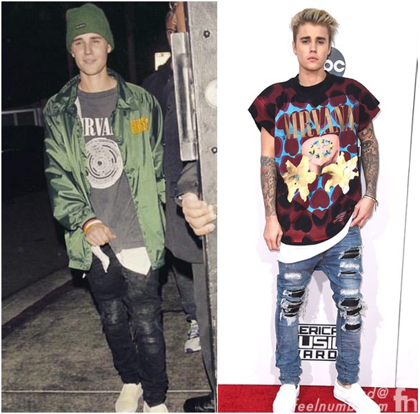 Justin bieber i mean kurt cobain rocking a snap back hat amp camo jacket feelnumb com