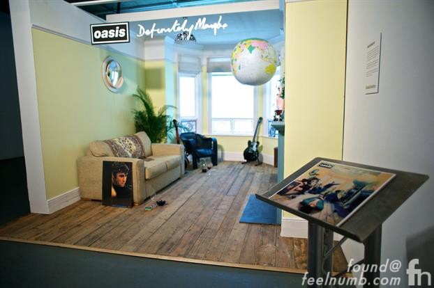 Oasis Chasing The Sun Exhibition Noel Gallagher daughter Anais Gallagher Definitely Maybe Set