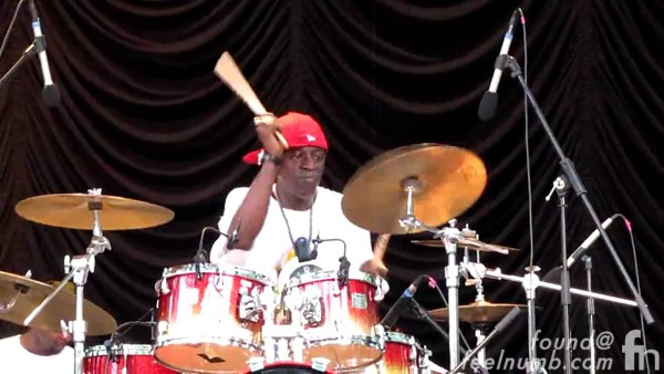 Flavor Flav Public Enemy Playing Bass Drums piano