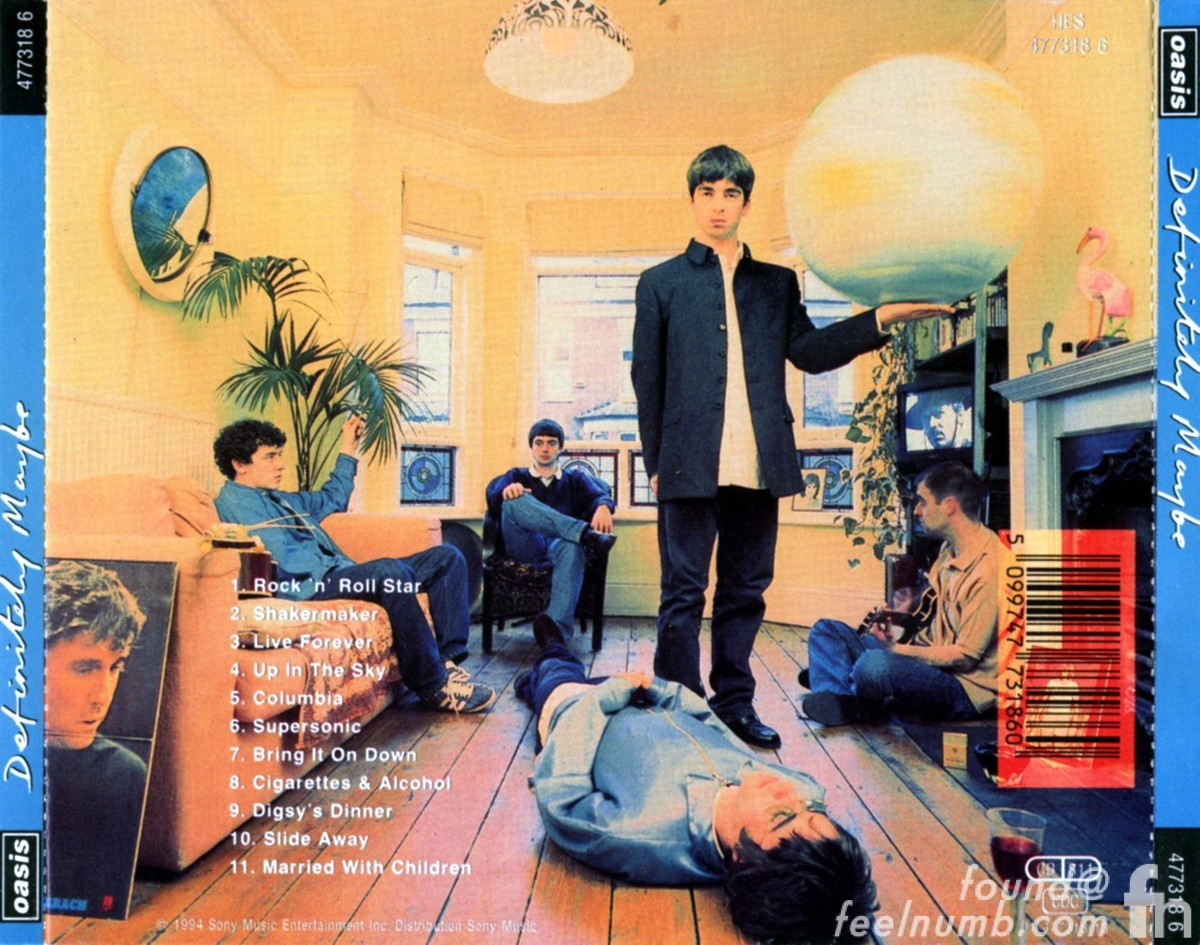 Oasis Definitely Maybe Back Album Cover Noel Gallagher Daughter Chasing The Sun Recreation