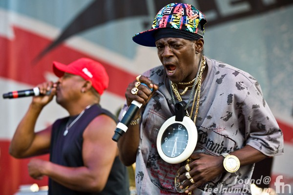Public Enemy Flavor Flav Playing Instruments Bass Drums Piano