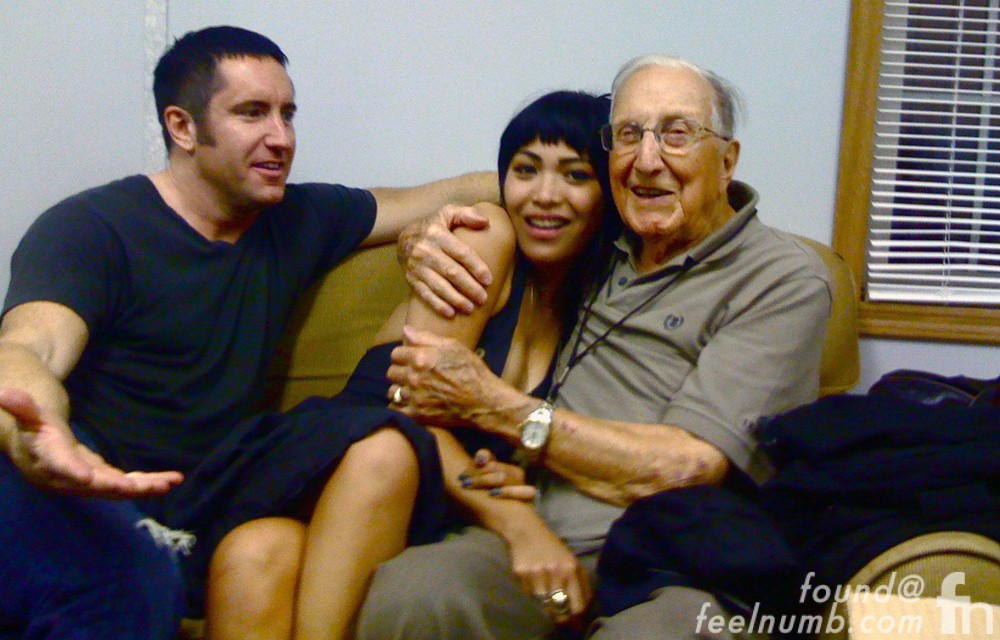 Trent Reznor NIN with Grandfather Bill Clark on The Price is Right Game Show 2002