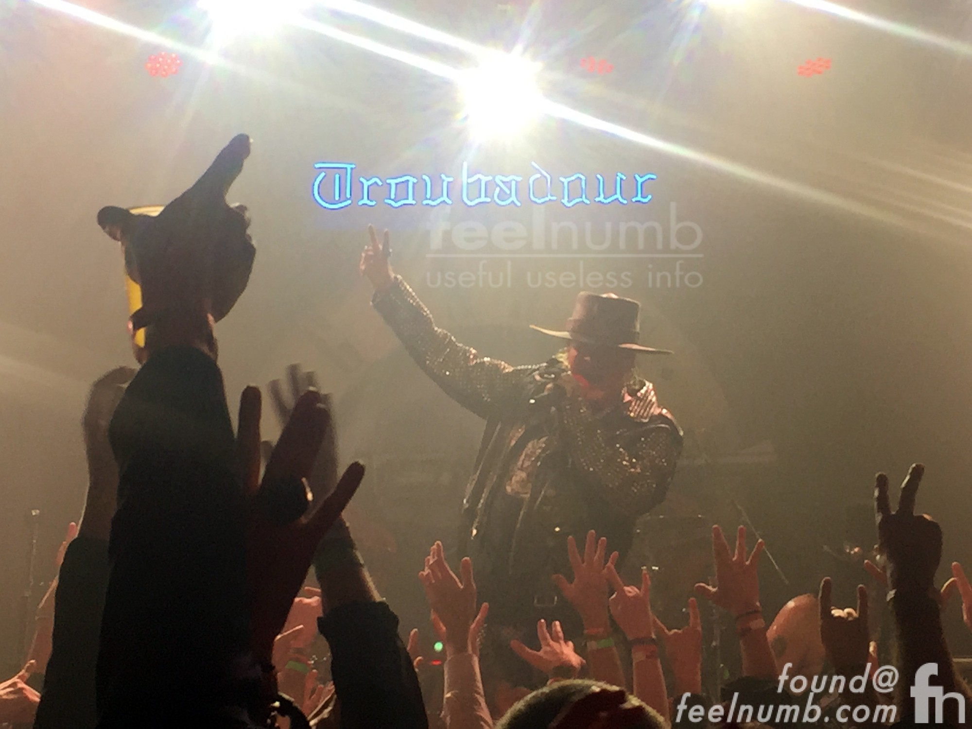 Axl Rose Guns N' Roses GNR First Show 2016 The Troubadour Los Angeles, CA feelnumb.com