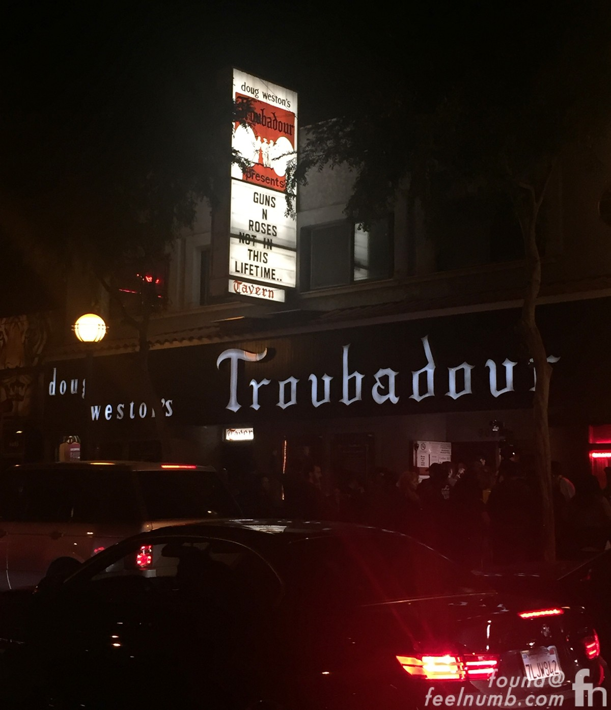 Guns N Roses The Troubador April 1, 2016 Los Angeles CA feelnumb.com