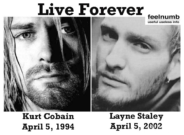 Kurt Cobain Nirvana Layne Staley Alice in Chains death April 5