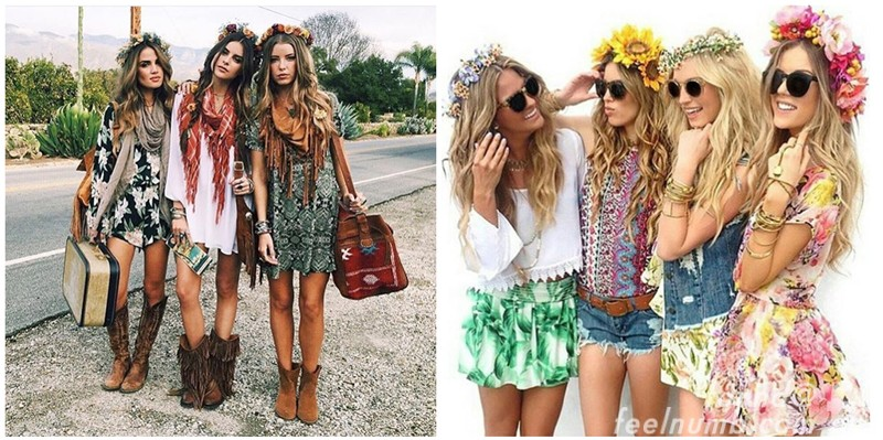 Coachella Fashion Flower Crown Robert Plant Led Zeppelin