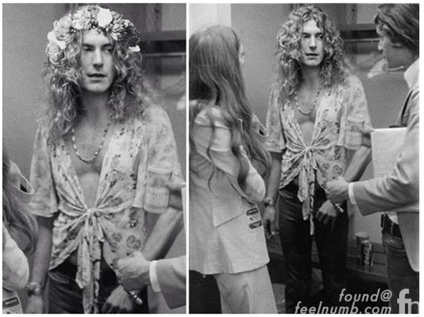 Robert Plant Flower Crown Led Zeppelin Photo Fake
