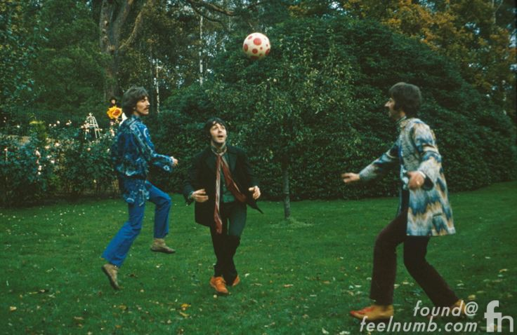 The Beatles Playing Soccer John Lennon Photobomb Magical Mystery Tour