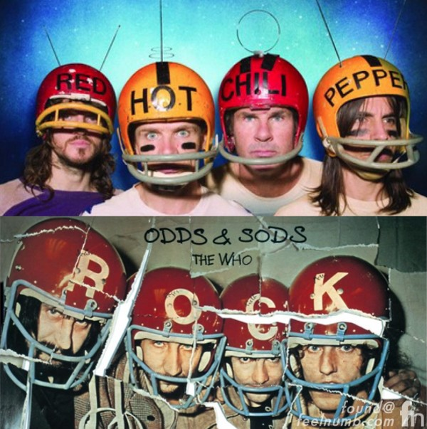 The Who Red Hot Chili Peppers Odds & Sods Stadium Arcadium Football Helmets