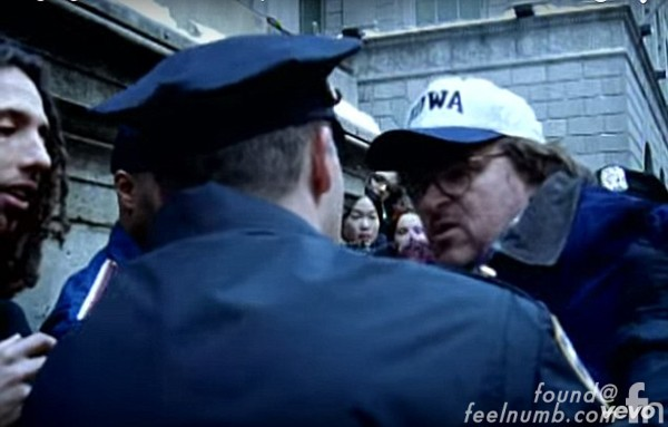 Michael Moore Rage Against The Machine Sleep Now In The Fire Arrested Donald Trump Video Shoot