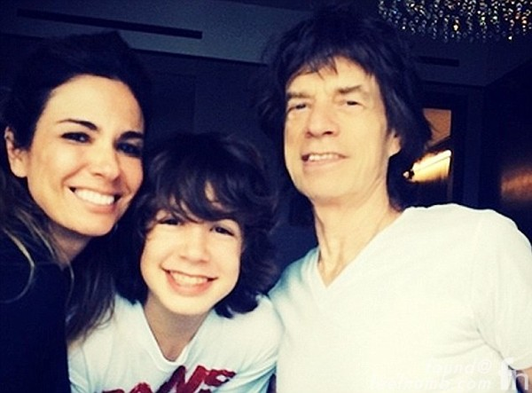 Mick Jagger Luciana Gimenez Son Lucas Maurice Rolling Stones