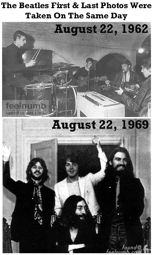 August 22 The First & Last Photo of The Beatles